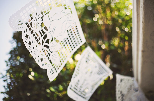 papel picado wedding decor