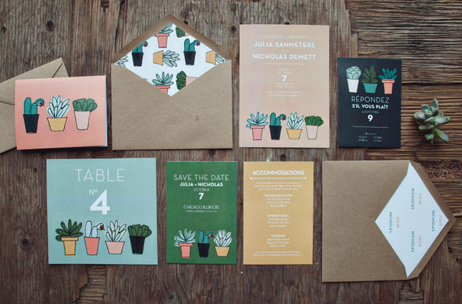 Succulent Wedding Invitations
