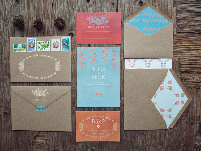 hip wedding invitations