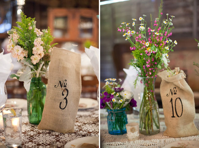 brown sack table numbers
