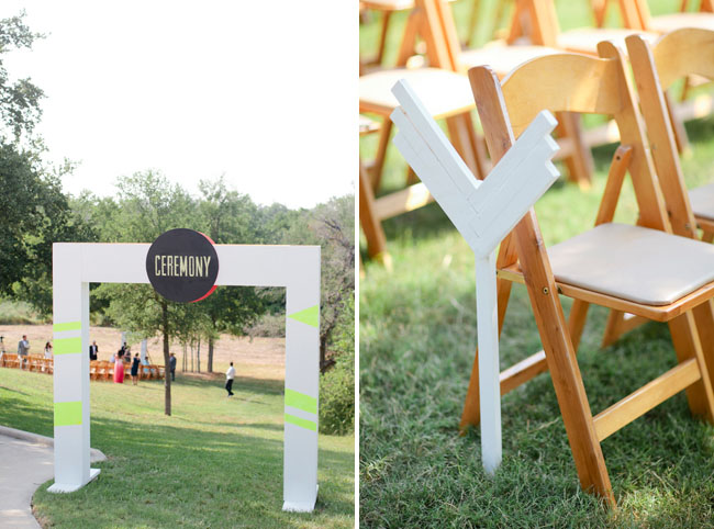 wooden archway ceremony