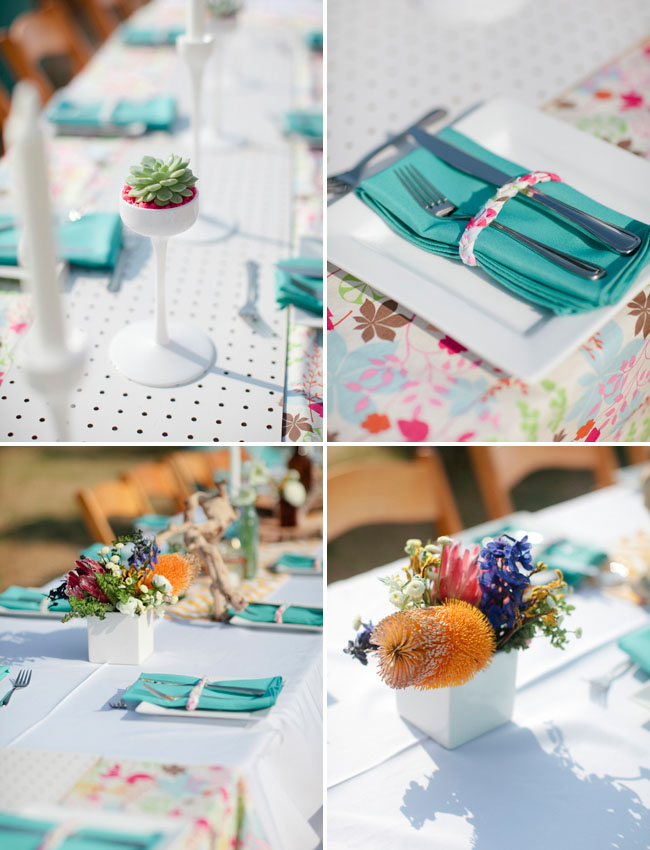 teal tablescapes