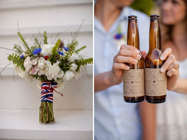 red white blue bouquet