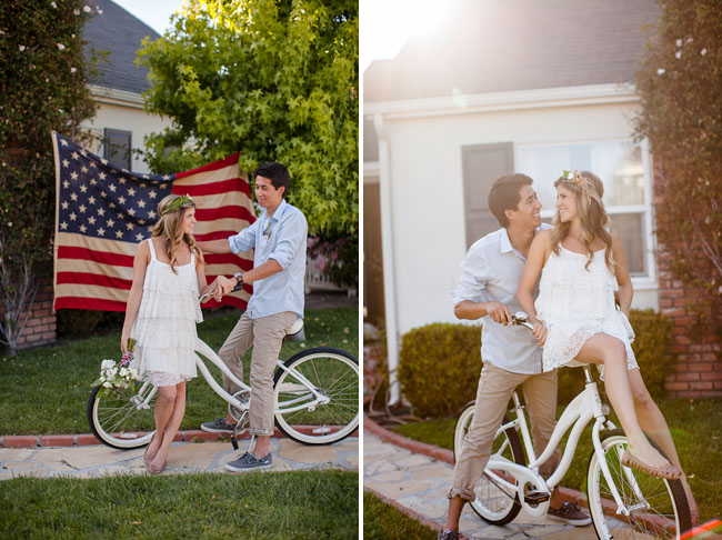 july 4th wedding inspiration beach cruiser
