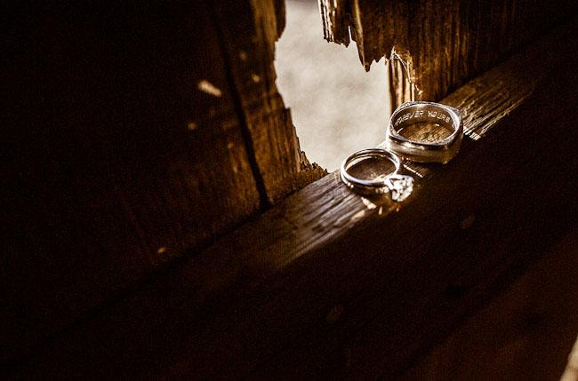 barn wedding wedding rings