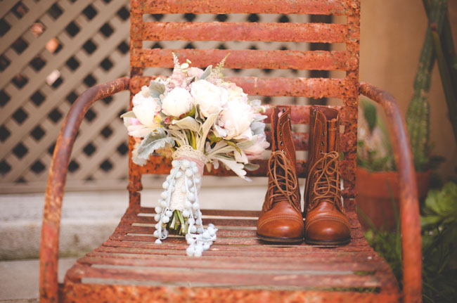lace up boots bride