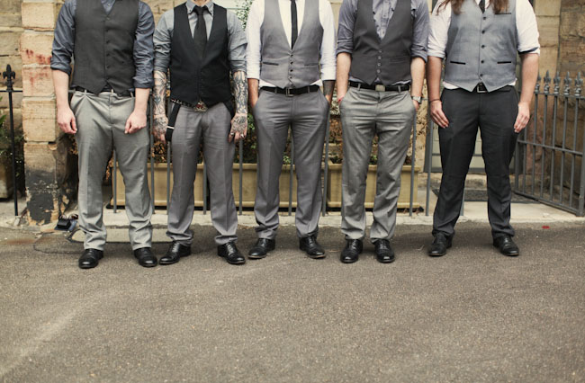 vintage wedding groomsmen