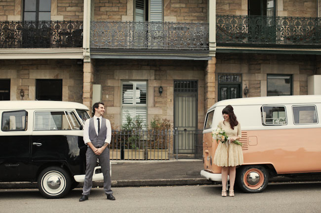 vintage wedding vw bus