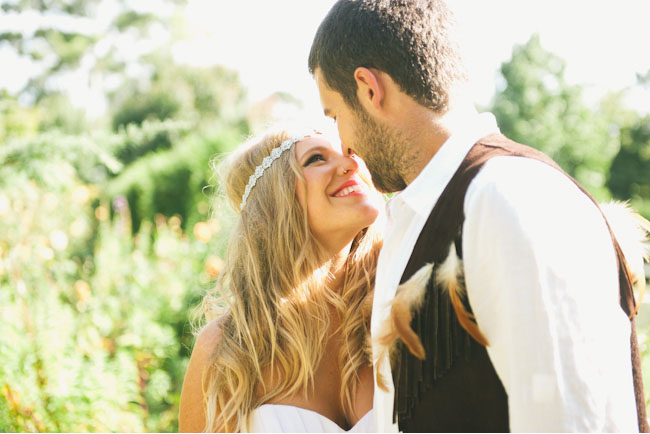 native wedding bride and groom