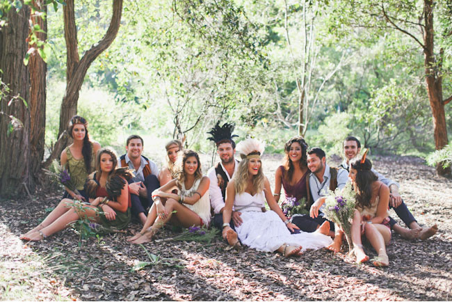 native wedding bridal party