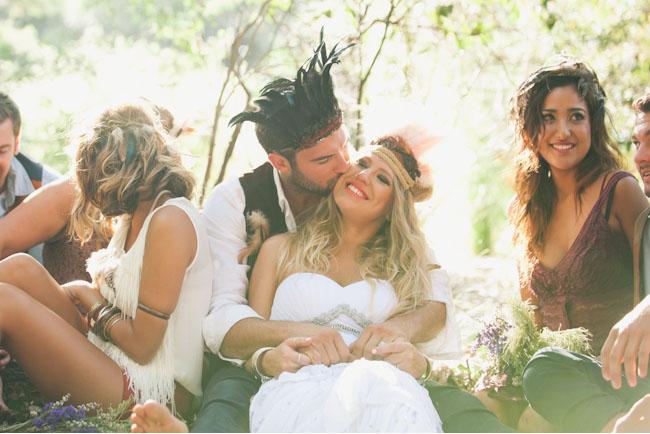 native wedding bridal party