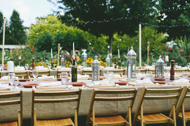 native wedding candle tablescapes