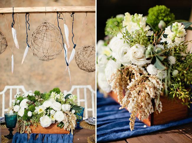 nautical beach wedding inspiration feathers