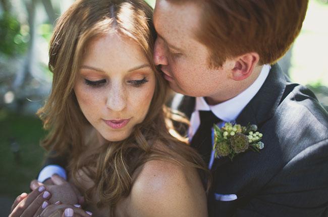 palm springs wedding bride and groom