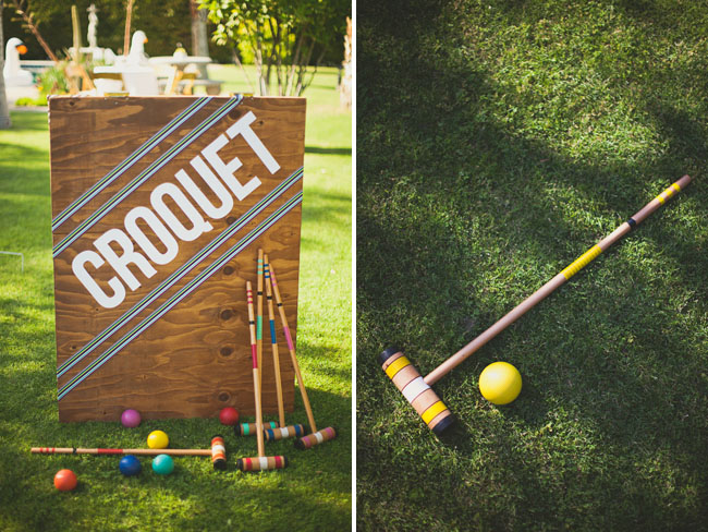 palm springs wedding croquet