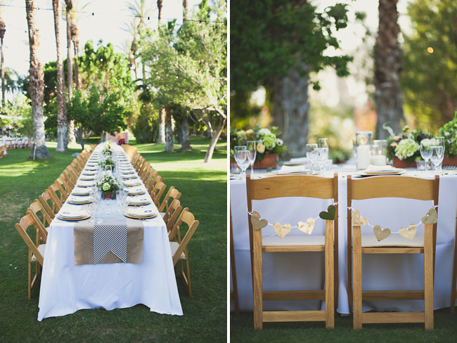 palm springs wedding gold hearts
