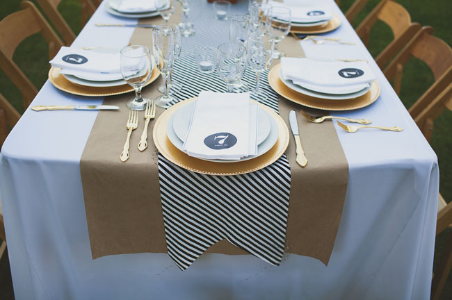 gold plate charger tablescape