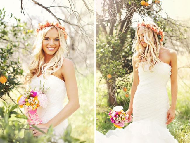 hippie wedding floral crown