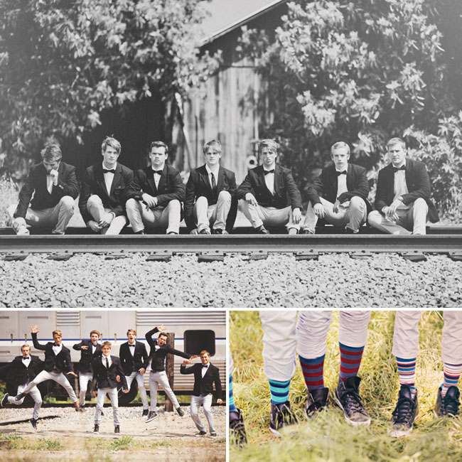 groomsmen striped socks
