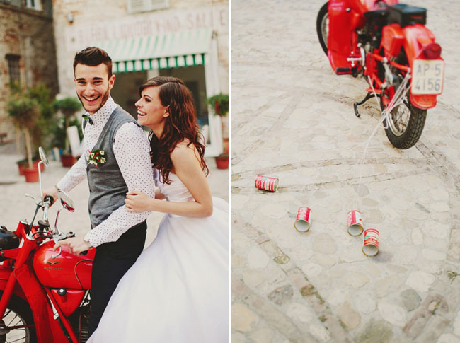 italian wedding inspiration vespa