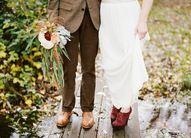 red bridal bootie heels
