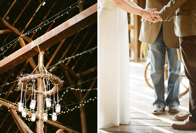 rustic barn wedding mason jar chandelier