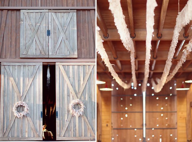 barn wedding, fringe decor