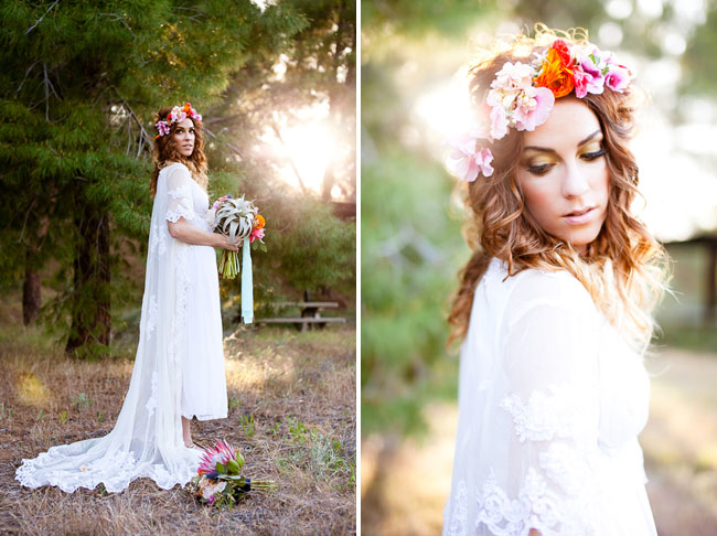 sirens wedding inspiration floral crown