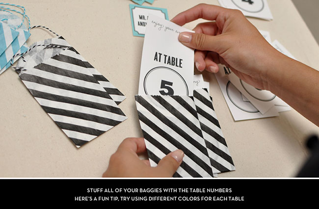 Escort Card DIY step 3