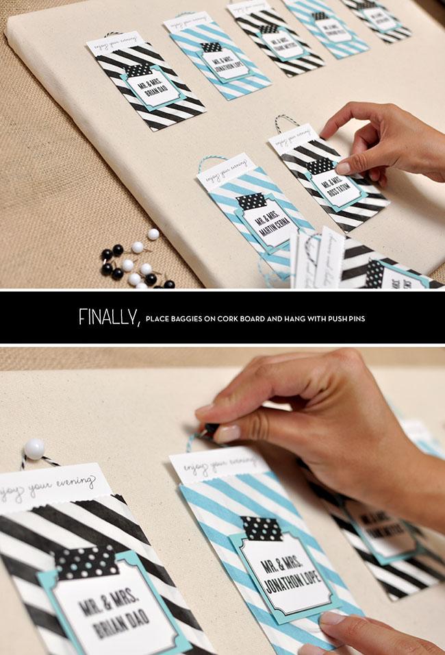 Escort Card DIY step 6