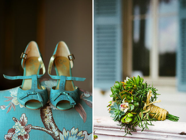 teal bridal shoes