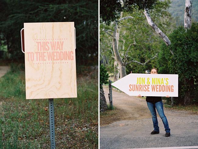 sunrise wedding wooden wedding signs