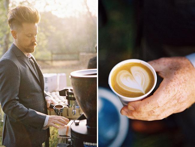 sunrise wedding handsome coffee