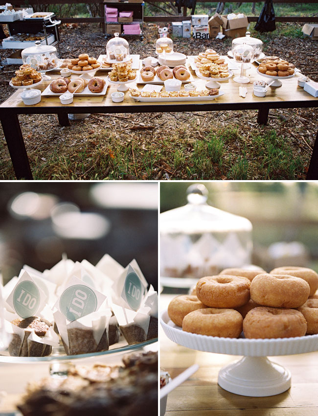sunrise wedding donut bar