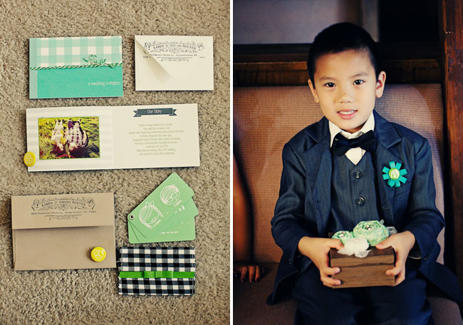 ring bearer with button boutonniere