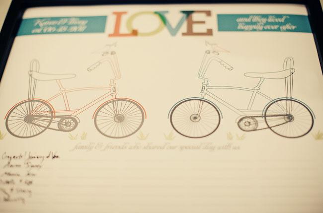 vintage bicyle paper goods