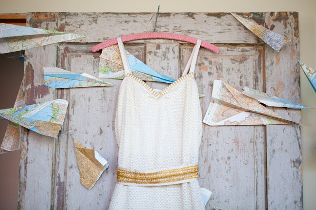 travel wedding inspiration paper planes