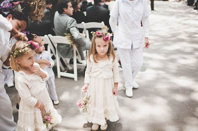 flower girls with floral crowns