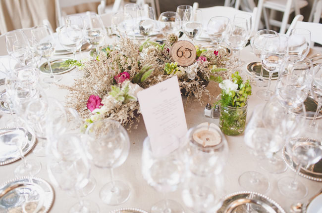 dried and floral centerpieces