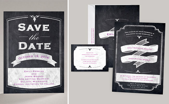 chalkboard wedding invites