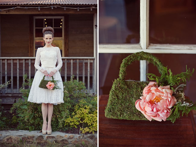 moss covered hand bag