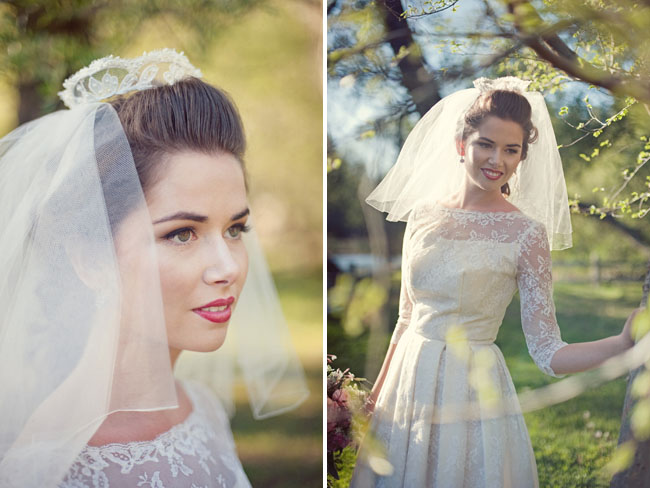 lace crown wedding veil