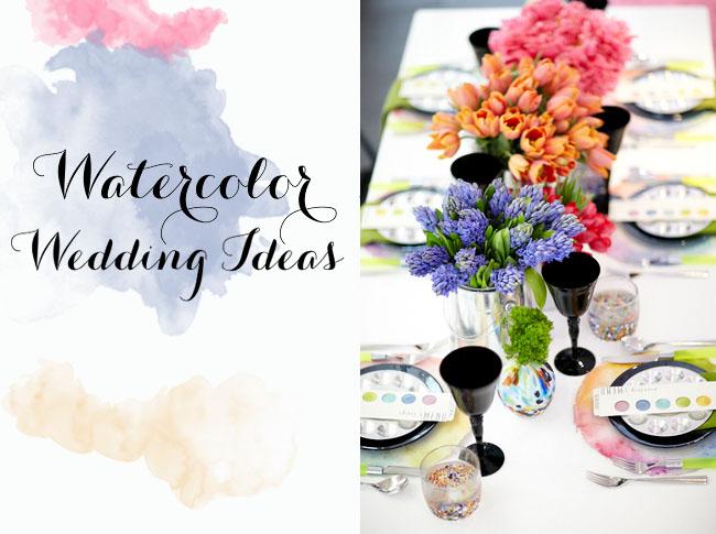 25533508db57 Watercolor Wedding Ideas - Green Wedding Shoes