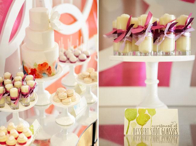 watercolor dessert bar