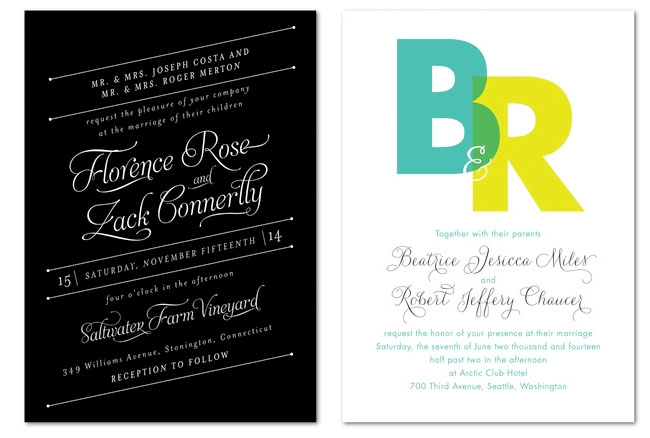 wedding invites from wedding paper divas