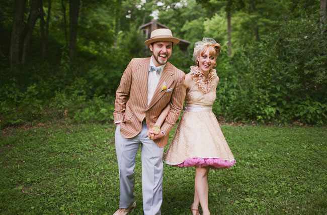 Vintage Outdoor Wedding in Tennessee: Amanda + Dan - Green Wedding Shoes