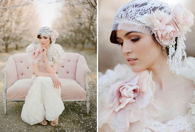 lace bridal cap