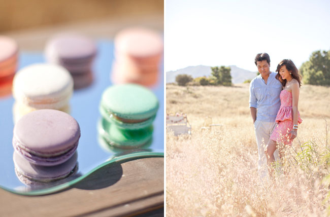 french macaroons engagement