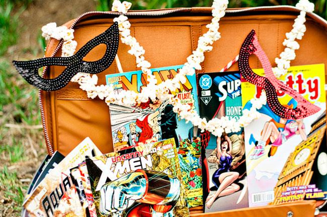 comic book suitcase