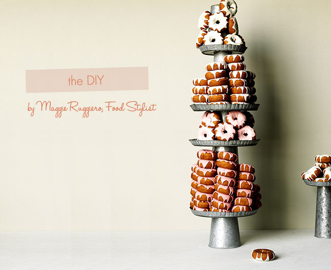 diy donut cake